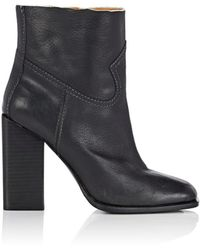 Saint Laurent - Jodie Leather Ankle Boots - Lyst