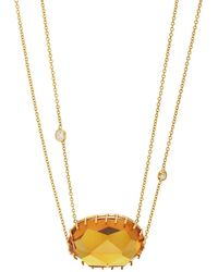 Renee Lewis - Citrine Pendant Necklace - Lyst