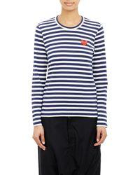 Play Comme des Garçons - Stripe Long Sleeve T-Shirt - Lyst