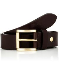 Barneys New York - Textured Leather Belt - Lyst