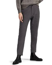 Pas De Calais Linen-wool Tapered Crop Pants - Gray