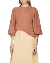 Ulla Johnson - Labelle Brushed Angora-blend Sweater - Lyst