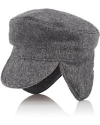 House of Lafayette Brushed Cashmere Fisherman Cap - Gray