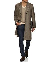 Brioni - Cashmere Herringbone Three-button Overcoat - Lyst