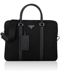 Prada Slim Briefcase - Black