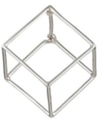 Shihara - 3d Square Earring - Lyst