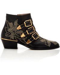 Chloé - Susanna Velvet Ankle Boots - Lyst