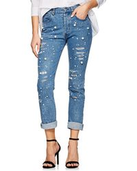 Forte Couture - Vanessa Embellished Distressed Skinny Jeans - Lyst