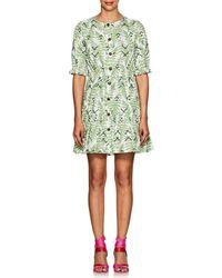 Saloni - Billie Fern-print Cotton Dress - Lyst