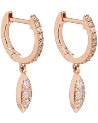 Carbon & Hyde - Delilah Huggie Hoop Earrings - Lyst