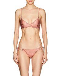 Yasmine Eslami - Maya Triangle Bikini Top - Lyst