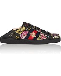 Gucci - New Ace Leather Sneakers - Lyst