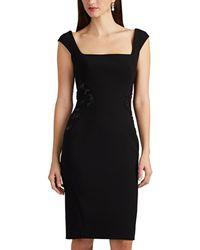 Zac Posen - Embellished Bonded Crepe Cocktail Dress - Lyst