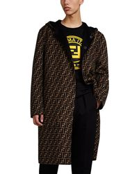 Fendi - Reversible Logo Wool Melton Coat - Lyst