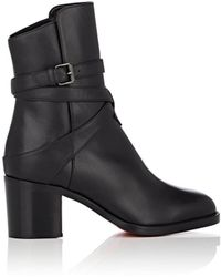 Christian Louboutin - Karistrap Leather Ankle Boots - Lyst