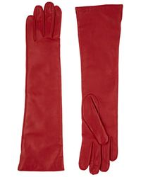 Barneys New York - Cashmere-lined Leather Long Gloves - Lyst