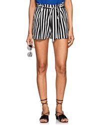 L'Agence - Alex Striped Silk Shorts Size 8 - Lyst
