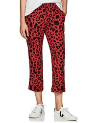 Koche - Taylor Striped Leopard-print Crop Trousers - Lyst