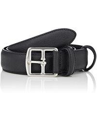 Barneys New York - Saffiano Leather Belt - Lyst
