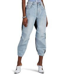 Alexander Wang Denim & Tech-canvas Jogger Trousers - Blue