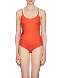 Fendi - Logo One-piece Swimsuit - Lyst