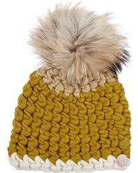 Mischa Lampert - Fur Pom-pom Wool Hat - Lyst