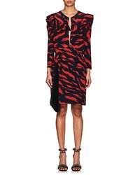 Givenchy - Abstract-print Silk Dress - Lyst