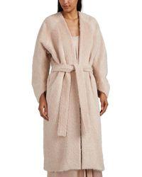 Zero + Maria Cornejo Fuzzy Alpaca-virgin Wool Robe Coat - Pink
