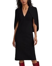 Givenchy Crepe Cape Sweaterdress - Black