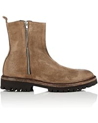 Barneys New York - Double-zip Burnished Suede Boots - Lyst