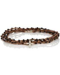 Feathered Soul - Cross Wrap Bracelet - Lyst