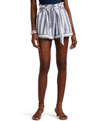 Suboo - Newport Linen Belted Shorts - Lyst
