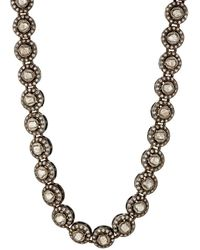 Munnu - Single Line White Diamond Necklace - Lyst