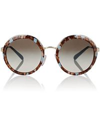 Prada - Oversized Round Sunglasses - Lyst