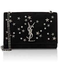Saint Laurent - Monogram Kate Small Suede Chain Bag - Lyst