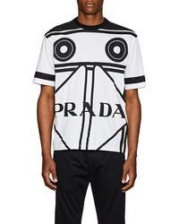 Prada - Cassette-print Cotton T-shirt - Lyst