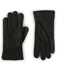 Barneys New York Cashmere-lined Deerskin Gloves - Black