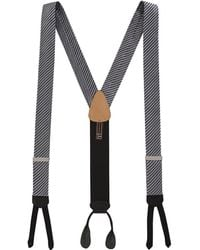 Trafalgar - Formal Diagonal Ii Striped Silk Suspenders - Lyst