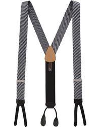 Trafalgar - Formal Diagonal Ii Striped Silk Suspenders - Lyst