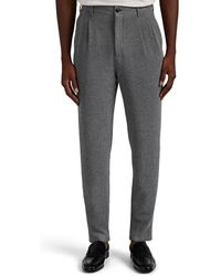 Giorgio Armani Waffle-knit Slim Pants - Gray