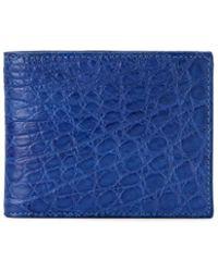 Barneys New York Alligator Billfold - Blue