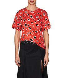 Proenza Schouler | Tie-back Floral Cotton T | Lyst