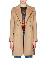 Balmain - Wool-cashmere Double-breasted Coat - Lyst