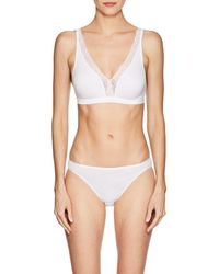 Hanro - cotton Lace Soft Bra - Lyst