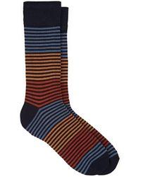 Corgi Striped Cotton-blend Mid-calf Socks