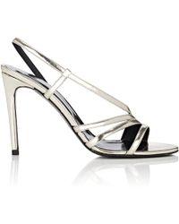 Barneys New York - Leather Slingback Sandals - Lyst