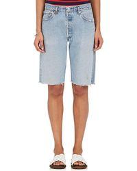 5b913751b468 RE DONE - Levi s® Denim Walking Shorts - Lyst