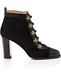 261e1a9418c6 Lyst - Christian Louboutin Pointipik Suede Ankle Boots in Black