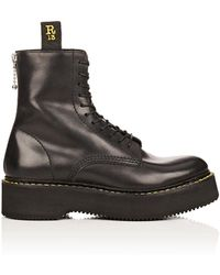 R13 - Single Stacked Leather Boots - Lyst