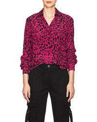 Robert Rodriguez - Leopard-print Silk Blouse - Lyst